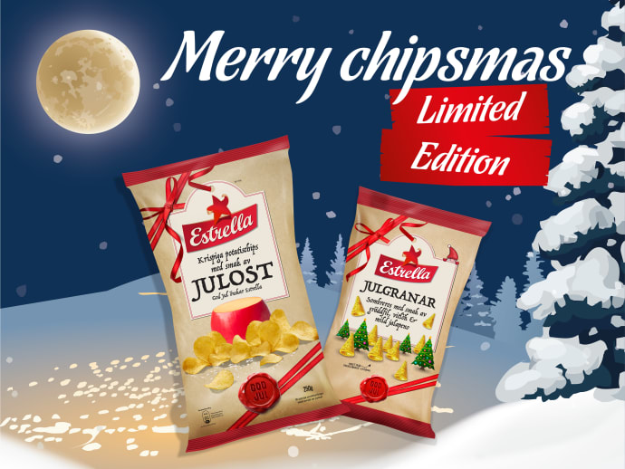 Julostchips och nyheten Julgranar