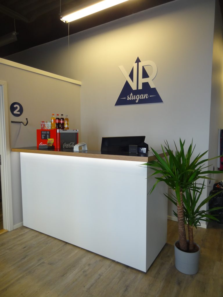 Kassa hos VR-stugan i Norrköping