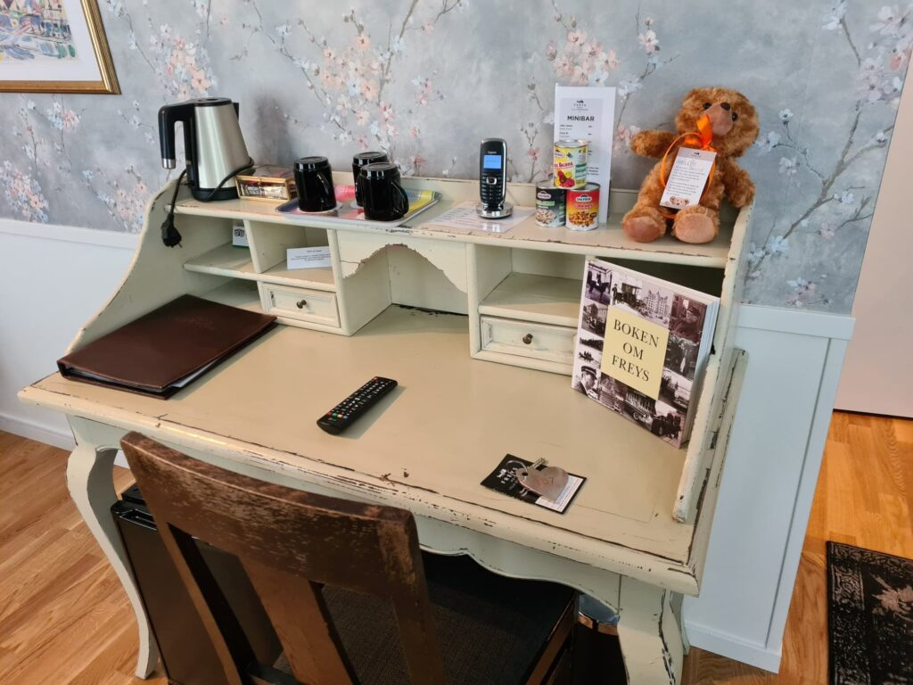 Skrivbord på Freys Hotell Lilla Rådmannen i Stockholm