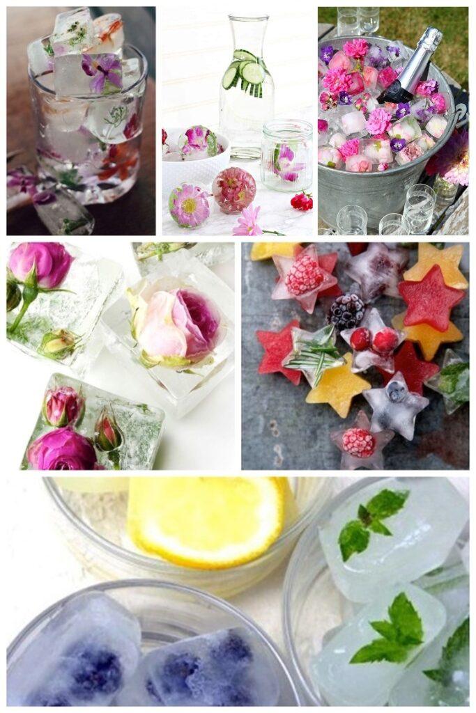 Isbitar med blommor till midsommar